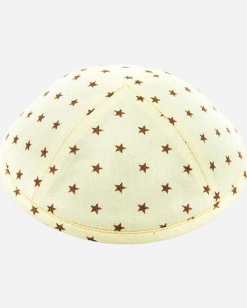 Stars on Pale Yellow - Designer Yamaka