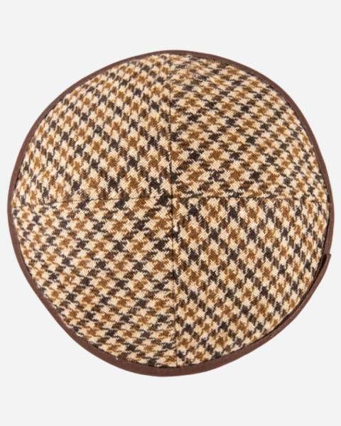 Winter Kippah Checkered brown Yamaka
