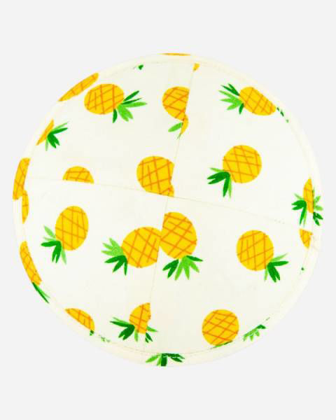 Yellow pineapple kippah